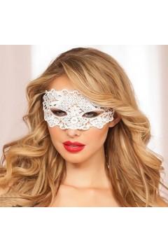 Мереживна маска на обличчя для рольових ігор біла 0806