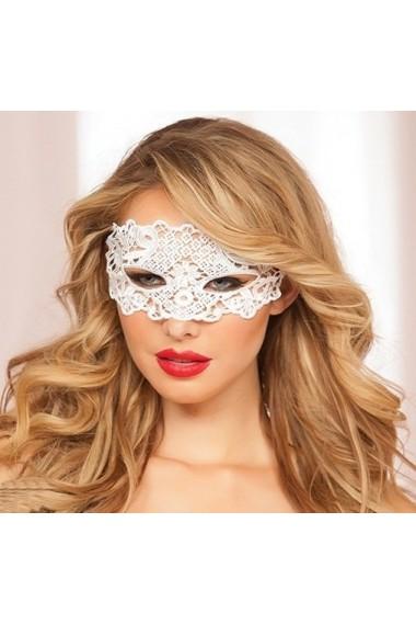 Кружевная маска на лицо для ролевых игр белая 0806