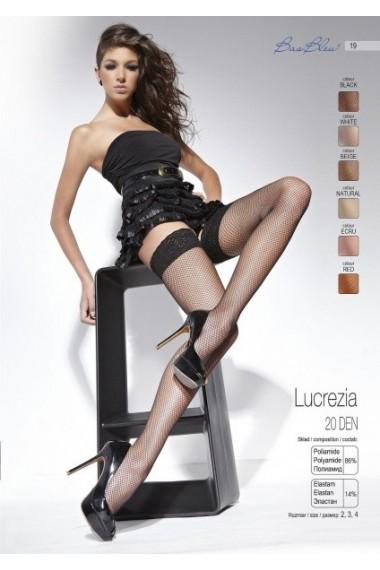 Чулки сетка черные Lucrezia BasBleu 1037