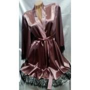 Ніжний жіночий комплект білизни нічна сорочка і халат 0676