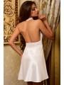 Белый пеньюар атласный с кружевом для Невесты