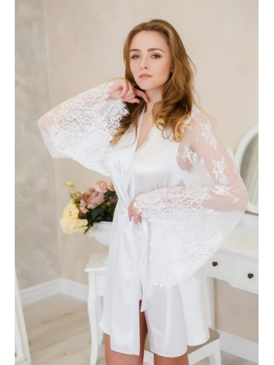 купить атласный халат для невесты украина