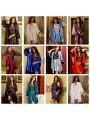 Комплект атласный халат с пеньюаром заказать онлайн
