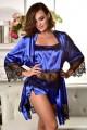 Атласный комплект домашней одежды халат и пижама
