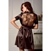 Спокусливий халат з красивою мереживною спинкою Мегалі Коричневий (Шоколад) 0764