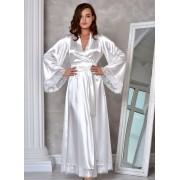 Свадебный халат для невесты Жемчужный (Молочный) 1289