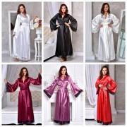 женские длинные халаты атласные интернет магазин Украина