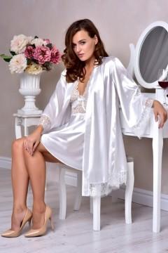 Комплект пеньюар с халатом для невесты купить