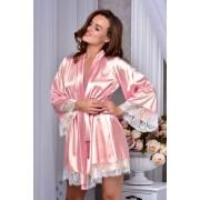 Женский атласный халат с широким рукавом заказать