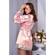 купить женский атласный халат с широким рукавом