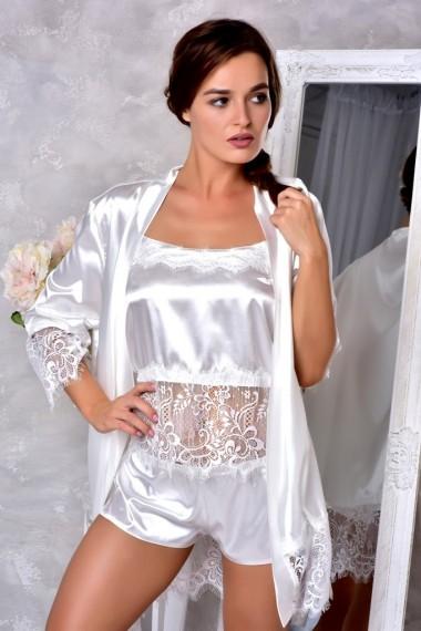 Свадебное белье комплект халат с пижамой Белый