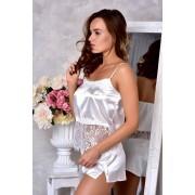 Свадебное белье комплект халат с пижамой Белый 1297