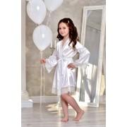 Детский атласный халат 1305