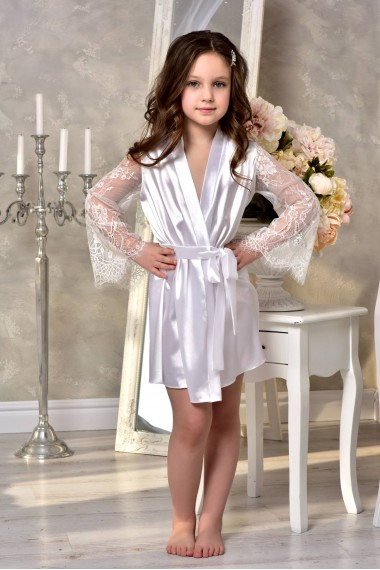 """Детский атласный халат """"Подружка Невесты"""" 1308"""