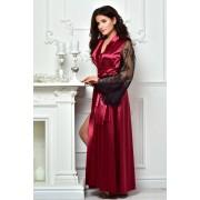 Длинный халат цвет бордо 1311