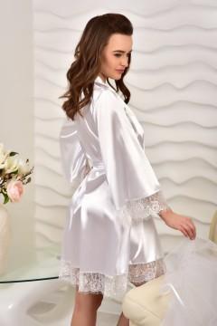 белый атласный халат для Невесты