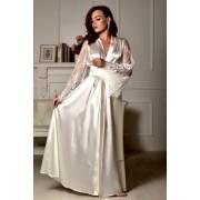 Атласный комплект на фотосессию Утро невесты пеньюар с халатом 1336
