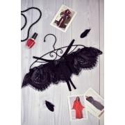 Кружевные трусики с вырезом Марлен черные 1197