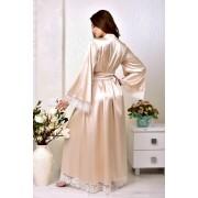 длинный свадебный халат на фотосессию невесты пудра