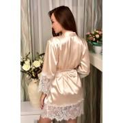 атласный халат в подарок невесте