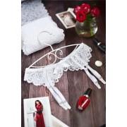 Белый пояс для чулок для невест 0973
