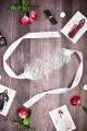 Комплект кружевная маска и мини стринги белые