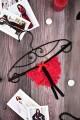 Эротический кружевной комплект лиф, стринги, пояс для чулок