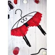 Красивий червоний пояс для панчіх під сукню 2005