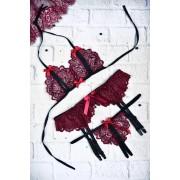 Эротическое белье кружевной комплект с разрезами