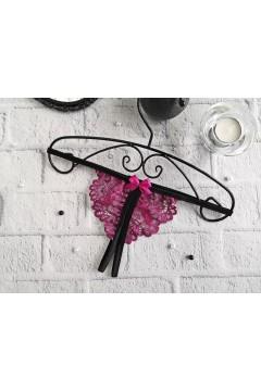Стринги с разрезом для интима Пурпурные 1381
