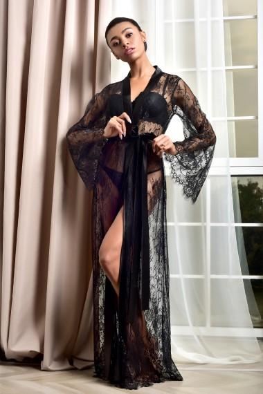 Роскошный кружевной халат в пол для...
