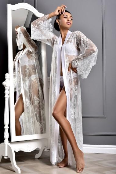 Длинный кружевной халат для невесты...