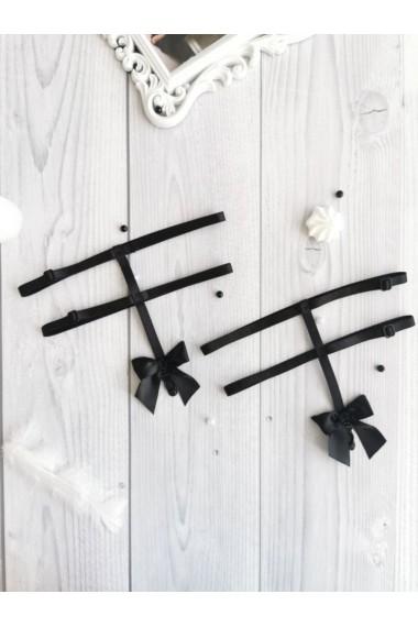 Подвязки-портупеи для чулок Черные 0754