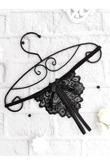 Еротичні стрінги з розрізом Чорні 1160