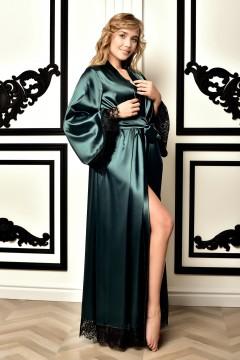 Женский атласный халат в...