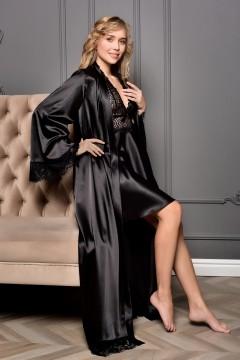 Комплект довгий халат з...