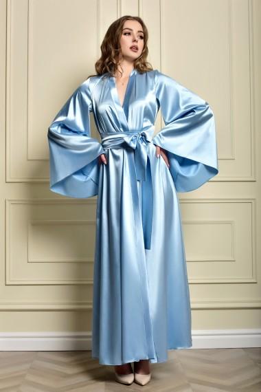 Довгий атласний халат кімоно...