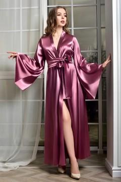 Атласный халат кимоно в пол...