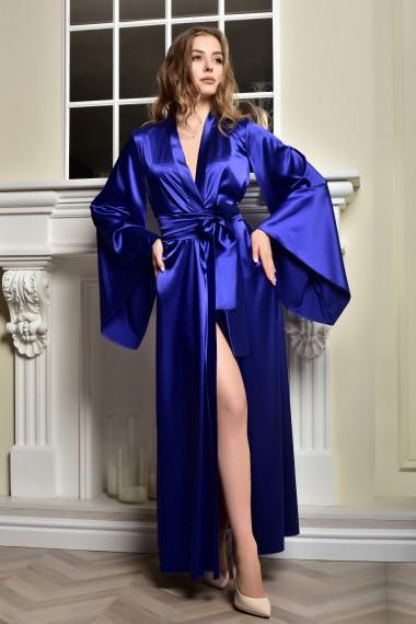 Длинный атласный халат кимоно...