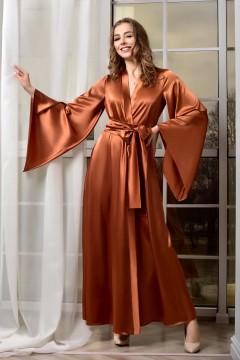 Женский атласный кимоно...